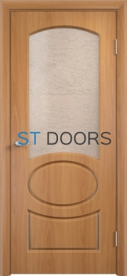 Филенчатая ламинированная дверь Неаполь ДО Миланский орех