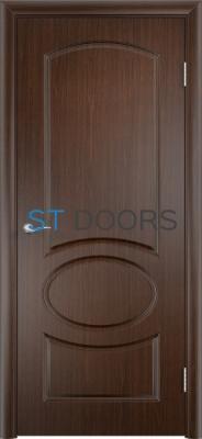 Филенчатая ламинированная дверь Неаполь ДГ Венге