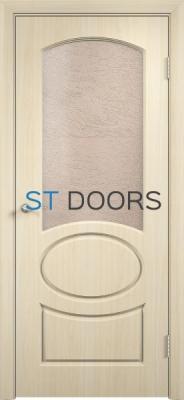 Филенчатая ламинированная дверь Неаполь ДО Беленый дуб
