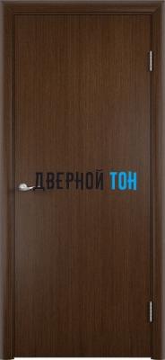 Гладкая шпонированная дверь венге