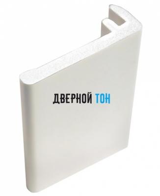 Наличник F-образный пластиковый вспененный ПВХ белый