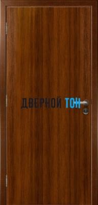 Гладкая пластиковая орех грецкий противопожарная дверь Ei30