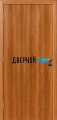 Гладкая пластиковая орех карамельный противопожарная дверь Ei30