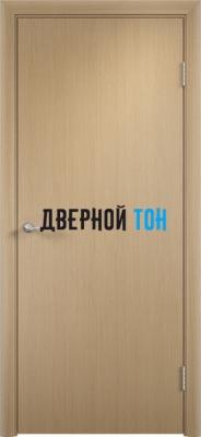 Гладкая шпонированная дверь беленый дуб