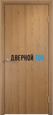 Гладкая шпонированная дверь дуб 605