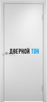 Гладкая ламинированная дверь с четвертью Белая
