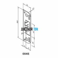 Ответная часть замка 2018/2014 для дверей без четверти 0045 чертеж