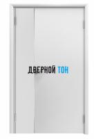 Пластиковая гладкая белая дверь Aquadoor полуторная до 2400 мм