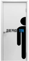 Пластиковая гладкая белая дверь Aquadoor с наклейкой для туалетов MEN