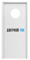 Маятниковая гладкая композитная белая дверь Aquadoor с иллюминатором