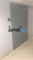 Металлическая противопожарная дверь Ei 60 RAL 7040