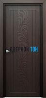 Гладкая ламинированная царговая дверь ФЛОРА