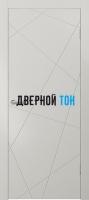 Гладкая окрашенная дверь с фрезеровкой Эмаль 10