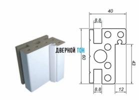 Дверная коробка для пластиковых двухстворчатых дверей Aquadoor
