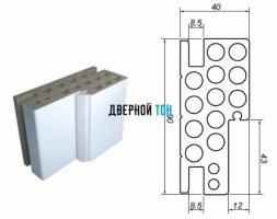 Дверная коробка 90 мм для пластиковых одностворчатых дверей Aquadoor