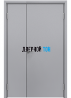 Пластиковая гладкая серая дверь Aquadoor полуторная RAL 7035