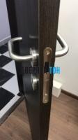 Пластиковая гладкая дверь Aquadoor дуб венге