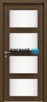 Пластиковая дверь Aquadoor Zargo Quatro орех