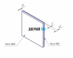 Добор для F-образного наличника пластиковый вспененный ПВХ моноколор 100 мм чертеж
