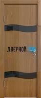 Гладкая дверь модель ДГ 503 глянец с алюминиевым торцом
