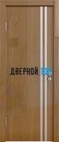 Гладкая дверь модель ДГ 506 глянец с алюминиевым торцом