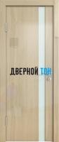 Гладкая дверь модель ДГ 507 глянец с алюминиевым торцом