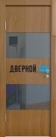 Гладкая дверь модель ДГ 508 глянец с алюминиевым торцом
