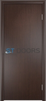 Гладкая ламинированная дверь с четвертью
