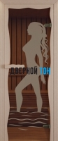 Дверь для сауны стекло бронза Диана Miracle