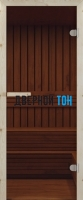 Дверь для сауны стекло бронза СТАНДАРТ
