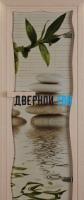 Дверь для сауны стекло бронза с фотопечатью релакс Miracle