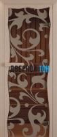 Дверь для сауны стекло бронза Петергоф Miracle