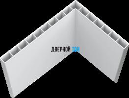 Добор белый Г-образный белый пластиковый телескопический 2600х100х10 Aquadoor