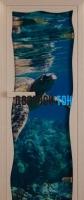 Дверь для сауны стекло бронза с фотопечатью водный мир Miracle