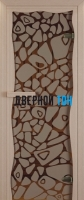 Дверь для сауны стекло бронза морское дно Miracle