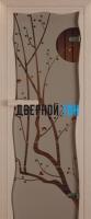 Дверь для сауны стекло бронза сакура Miracle