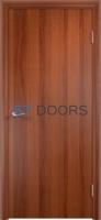 Гладкая ламинированная дверь с четвертью Итальянский орех