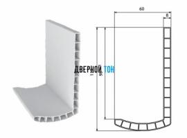 Добор белый Г-образный белый пластиковый телескопический 2200х110х10 Aquadoor