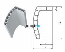 Наличник белый пластиковый телескопический 2200х60х10 Aquadoor