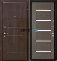 Входная металлическая дверь МЕТАЛЮР М7 (МДФ-МДФ) Грей мелинга