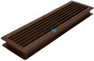 Дверная вентиляционная решетка коричневая 430 мм