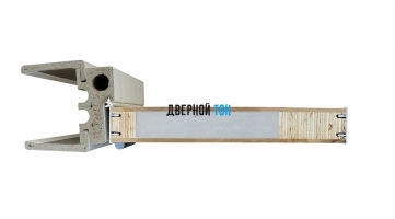 Гладкая дверь Капель с поперечным экошпоном серия ECO (телескопическая коробка) уголок