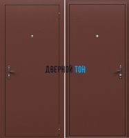 Входная металлическая техническая дверь медный антик
