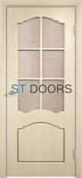 Филенчатая ламинированная дверь Лидия ДО Беленый дуб