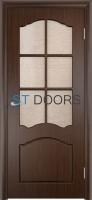 Филенчатая ламинированная дверь Лидия ДО Венге