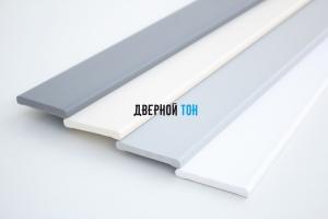 Наличник F-образный пластиковый вспененный ПВХ моноколор