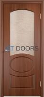 Филенчатая ламинированная дверь Неаполь ДО Итальянский орех