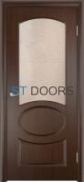 Филенчатая ламинированная дверь Неаполь ДО Венге