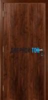 Гладкая пластиковая орех памплона противопожарная дверь Ei30