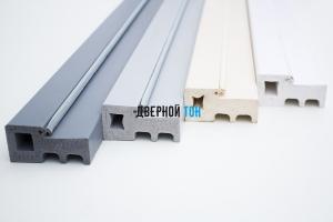 Дверной профиль пластиковый вспененный ПВХ моноколор